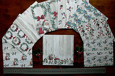 Christmas Snow 6x6 - C90 Kit 8 Diff Designs 3 of Each = 24 Sheets &Contrast Back