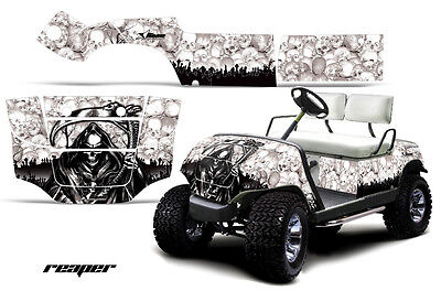 Yamaha Golf Cart Parts - Graphic Kit Wrap Amr Racing Decals 95-06 Model Reaper W