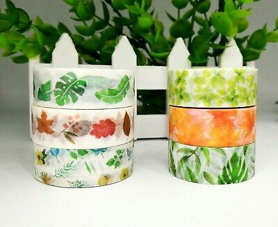 Japan Washi Tape  - Leaf and Greens collection 15mmx7m  MT082