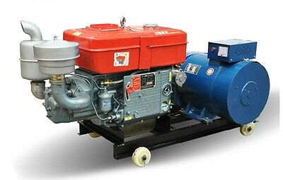 New 1 Phase 10000W 10Kw Diesel Powered Generator Genset Free Delivery From US