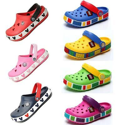 Kids Unisex Summer Beach Clogs-Croc Sandals Mammoth Mickey Mouse Toddler Shoes