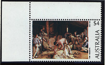 "Australia stamp COLOUR SHIFT variety 1974 $4 Tom Roberts ""Muddled Shearers"" MNH"