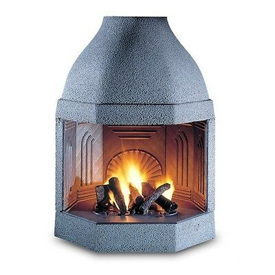 "Wood Burning Fireplace Insert with Cast Iron Walls ""Ghisafort Octagon"""