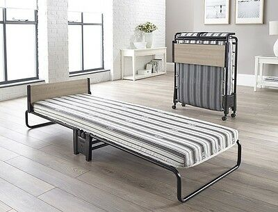 Jaybe Revolution Folding Bed with Airflow Fibre Mattress Guest, Rollaway Bed