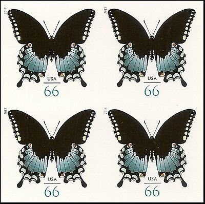 US 4736a Spicebush Swallowtail Butterfly 66c imperf NDC block MNH 2013