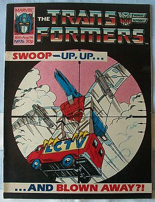 Transformers UK Comic Issue 76 August 1986