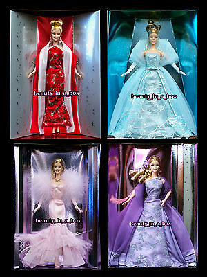 Collector Edition Barbie Doll 2000 2001 2002 2003 Lavender ~ NO BOXES ~ Holiday