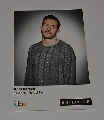 Ross Barton-Michael Parritv Emmerdale Unsigned Card - Mint Condition