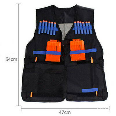 Adjustable Tactical Vest w/Storage Pocket Pockets for Nerf Team Gifts For Kids