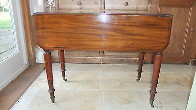 ANTIQUE REGENCY MAHOGANY PEMBROKE DROP-LEAF DINING / OCCASIONAL TABLE c.1820s
