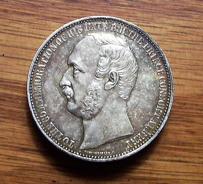 Great Britain Price Albert Silver Plated Medal International Exhibition 1862
