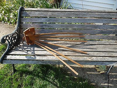 antique wall-mount wooden laundry drying rack - Germany