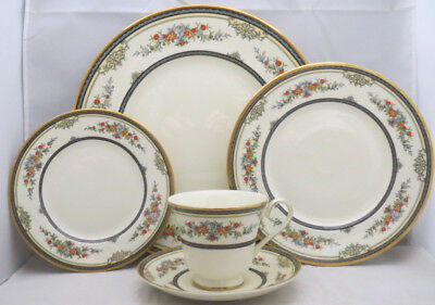 Minton Stanwood (Gold Trim) 5 Piece Place Setting