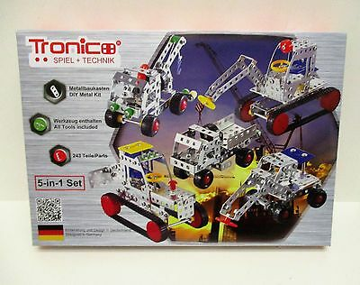 Tronico 10270CON - 5-in-1 Construction Vehicles Set - Metal Construction Kit