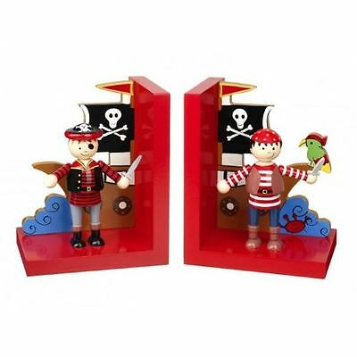 Orange Tree Toys - Wooden Pirate Bookends - 16.5cm - RY92K1169 - New
