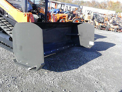 "New CID 96"" snow pusher for skid steers"