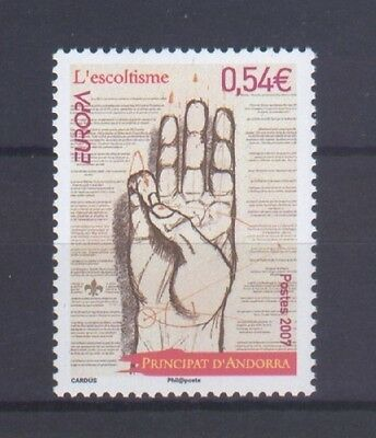 French Andorra, Europa Cept 2007, Scouts, Mnh
