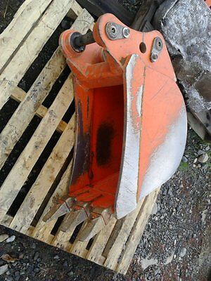 "Used Kubota K7792A 12"" trenching bucket with pins"