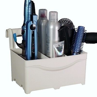 Curling & Flat Iron Blow Dryer Hair Accessory Organizer - Holds HOT Tools -Ivory