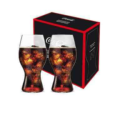 New Riedel Coca Cola Glass Set Of 2 Beverage Glassware Crystal Glasses Drinking