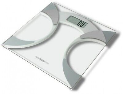 Salter 9141 WH3R Glass Body Fat Analyser Bathroom Scale BMI BIA Slim Weight Loss