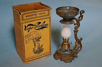 Antique Vapo Cresolene Lamp  Complete Globe & Pan Aromatheraphy for the 1880's