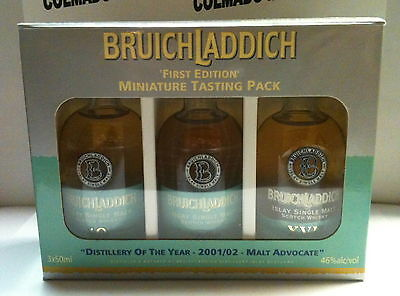 WHISKY BRUICHLADDICH  10 15 17 YEARS 50 ml FIRST EDITION MINIATURE TASTING PACK