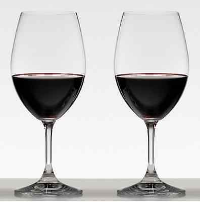 New Riedel Ouverture Magnum Glass Set Of 2 Wine Glasses Red Lead Crystal Drink