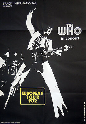 The Who Repro 1972 In Concert European Tour Poster . 70 X 48 Cm . Not Cd Dvd