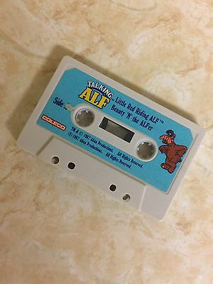 Talking ALF CASETTE TAPE 1987 Little Red Riding Beauty Cinder Cat w/ No Name HTF
