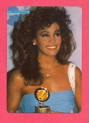 Whitney Houston Music Collectible Card 1986; Pop Music Singer;