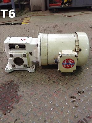 "US Motors F825 Motor w/ 1/2HP Gear Drive/Speed Reducer 3/4"" Shaft"