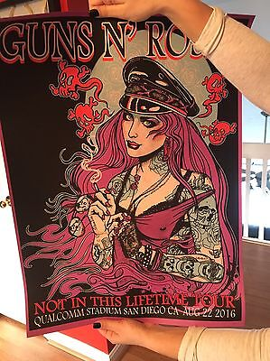Guns N Roses San Diego Poster 1 of only 20 made Artist Proof Rare Purple Variant