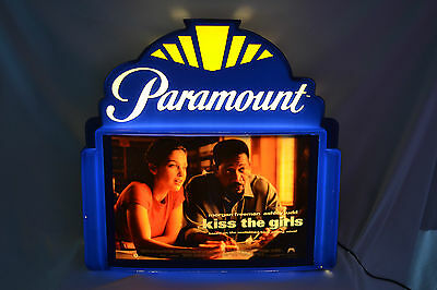 "Paramount Illuminated Marquee Lobby Sign ""Kiss The Girls"" Movie Advertizing"