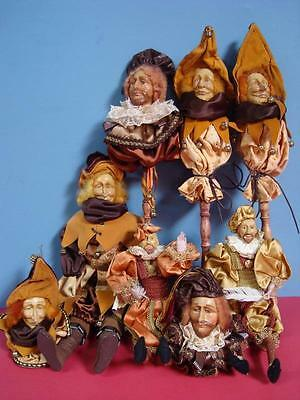 Mark Roberts Style Court Jester and Noblemen Hand Puppets / unknown maker