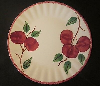 "Blue Ridge Southern Potteries 9-3/8"" Crab Apple Luncheon Plate Discontinued USA"