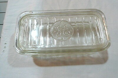 """GE Covered Glass Refrigerator Dish Vintage 8 3/8"""" x 4½"""" x 3"""""""