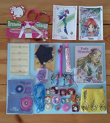 Disney Witch magazine lotto 21 gadget+13 spille special lot pins Will Cornelia