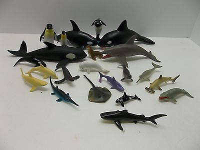 Lot Of 20 Marine Life Animal Toy Figures
