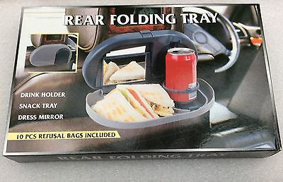 *brand New* Car Auto Rear Folding Tray Cup & Stand Meal Tray