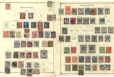 Great  Britain  page lot of early  stamps         KEL1211