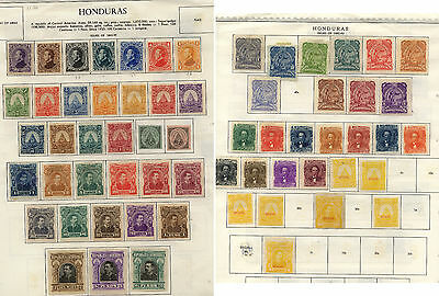 Honduras   early  collection  on  pages           KEL1211