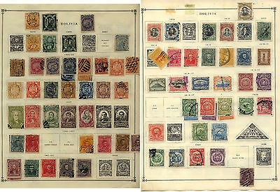 Bolivia  early stamp     lot  on  album  page         KEL1211
