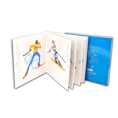 Winter Olympic Events Paper-Cutting Gift Man Skiing Sports Skiting Stickers Bag