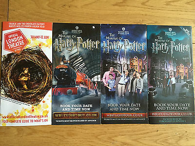 Harry Potter And The Cursed Child-The Making Of Harry Potter Wb Studios Flyers