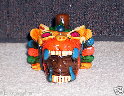 Nice Whistles Roar / Sound of Snarling of Jaguar Mexican art See my pics / video
