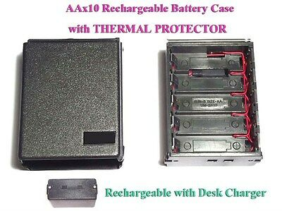 AA10 Rechargeable Battery Case + THERMAL Icom IC-2E 02E 4E 2GE A2 M5 M12 HTX-202