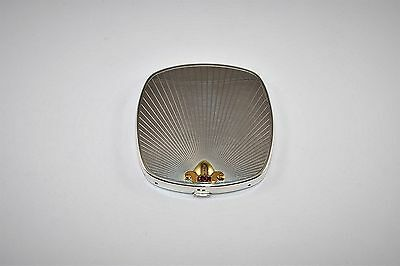 Tiffany & Co. Sterling Silver 14KT Gold Rubies Art Deco Compact