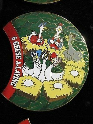 LE Disney Pin 12 Days Of Christmas 6 Geese A-Laying Lucy Gus Goose Goosey Poosey
