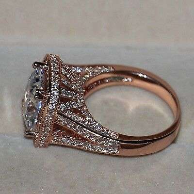 SZ5-11 Luxury Jewelry 10CT 925 Silver AAA CZ Rose gold plated Wedding Band Ring
